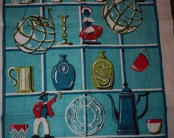 Tea Towel - Sweden -  Sea Motif - RETRO - Mid Century - Linen - towel