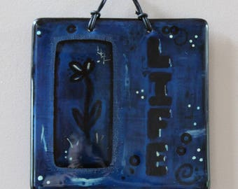 LIFE - Fused Glass Wall Hanging
