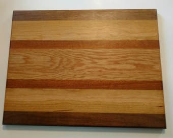 Exotic Hard Wood Charcuterie Board - Face & Edge Grain Mix