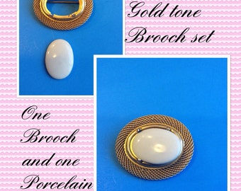 Three Goldtone Brooches