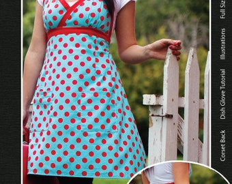 Jamie Christina Pretty Ditty Apron Pattern for Adults & Kids