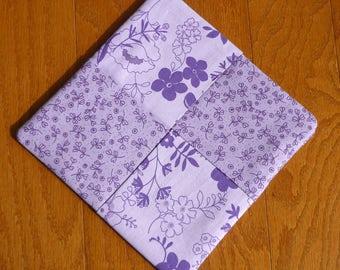 Pot Holder - Purple Flowers