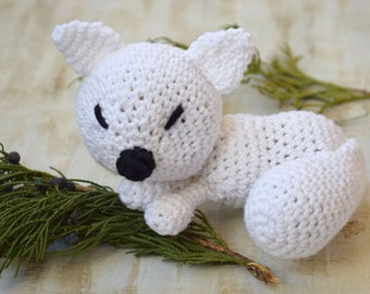 Amigurumi Crochet toy Fox Baby toys Stuffed Animal Plushie Kids toy Teether organic New Baby Gift Baby Shower Gift toddler toy Baby rattle