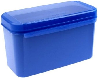 Tupperware Signature Container MM Double II Tall - Dark Blue from Germany.