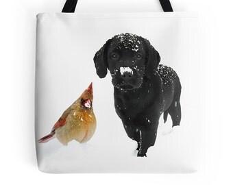 Black Lab 26SDC Tote Bag -  Labrador Tote - Black Lab Gifts - Dog Tote Bag - Grocery Bag - Grocery Tote Bag - Beach Bag - Black Lab Art