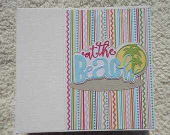 6 x 6 Beach Vacation Scrapbook Album