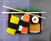 Focus Toy, Felt Sushi, Unroll and Re-roll, Pretend Play food, Play Kitchen, Montessori Toys,  Play Food for Toddlers, Sensory, Eco-friendly