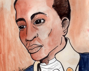 Hamilton's Burr - pen and ink and watercolor