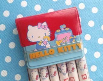 Hello Kitty Sanrio Vintage Felt Pouch 1976