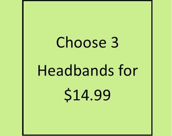 Girl's Top Knot Headbands - Knotted Headband Set - Girls Photo Prop - Baby Headband - Made 4U Handmade Designs