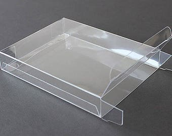 A2 Clear Plastic Greeting Card Boxes (set of 25), 4 1/2  x  1/2  x  5 7/8""