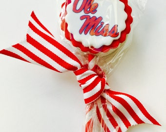 3 Ole Miss Chocolate Covered Oreo Pops