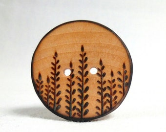 Handmade Wooden Button, Extra Large Coat Button 1.5 Inch or 38mm 1pce, Large Wood Button