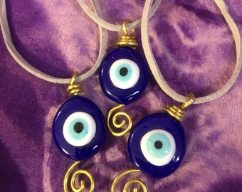 Glass Evil Eye Pendants