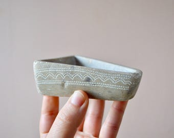 Hand-Carved Stone Ring Dish