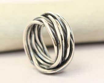 Sterling Silver/ Copper/ Brass Ring - Stacking Ring - Couples ring - Silver ring/ gold ring/ rose gold ring -Mens Rings - Handmade