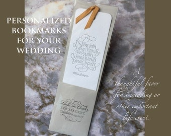 Personalized Bookmark Favors for Weddings and Life Celebrations