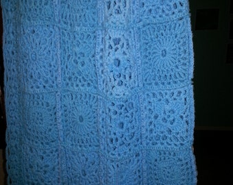 Andante Turquoise Blue Throw