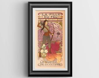 La fille du du feu signed art print - 4x8 mini print