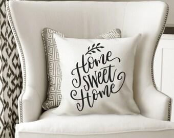 Home Sweet Home pillow cover, modern farmhouse, gifts under 20, pillow cover, new home gift, throw pillow, pillow sham, home decor
