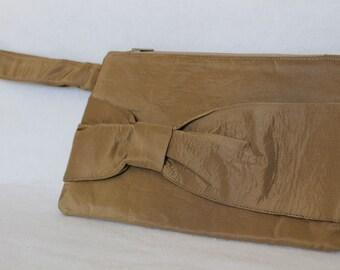Evening Bag - Bow Clutch with wrist strap - Wristlet - Zippered Clutch - Handbag - Wallet - Wrist Bag - Grad Clutch - Wedding Clutch