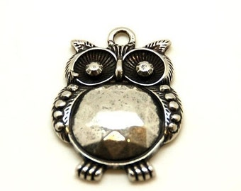 4x24mm Large Vintage Style Owl Pendant, High Quality,