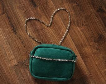 Suede handbag, shoulder bag, elegant