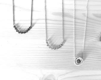 Silver Necklace | knotting
