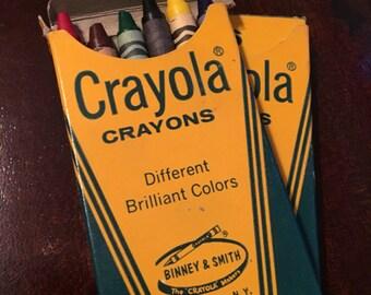 Vintage Crayola Crayons- Box of 6 (2 packs)
