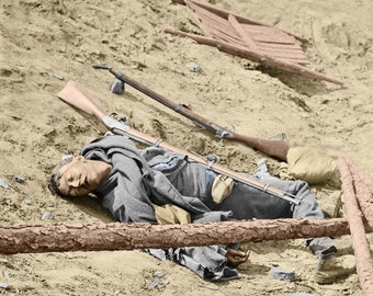 Dead Confederate Soldier at Petersburgh, Virginia DURING THE Civil War .