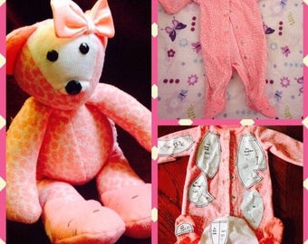 """PDF for 7"""" Memory Teddy Bear made from your child's keepsake clothing, By Trending Etsy Store"""