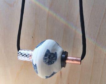 Ceramic Cat Hardware Necklace