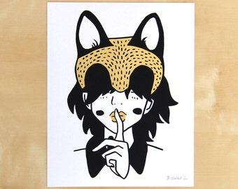 Quiet - Hand Screen Printed Print