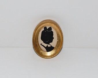 Vintage Framed Girl Silhouette