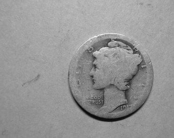 1917 P Mercury Dime Silver  #2728, Hard to Find Coin