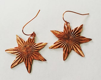 Radiant Seven Star Earrings Tsalagi Cherokee Made