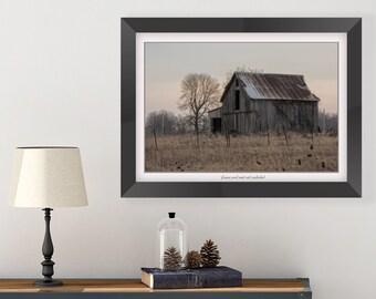 Barn Picture - Farm House Decor - Barn Wall Decor - Rustic Wall Decor - Rustic Print - Ohio Barn Photo - Farm Print - Living Room Wall Decor