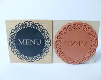 XL stamp Medallion menu menu