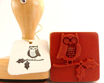 Wood stamps OWL OWL