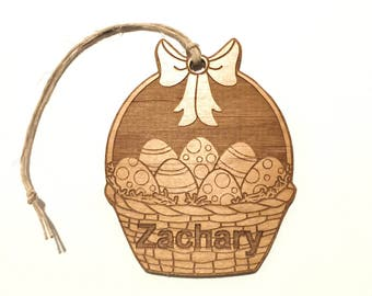 Personalized Wood Easter Basket Name Tags