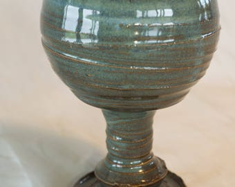 Handmade Pottery Goblet, Individually made on Potters Wheel in Studio, Beautiful Unique Design. Lord of the Rings, Hobbit, Foodsafe!!