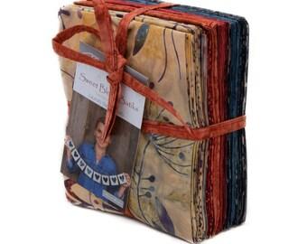 Moda Sweet Blend Batiks Edyta Sitar Laundry Basket Quilts 15 Fat Quarter Bundle Fabric