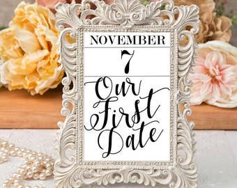 Printable Custom Table Numbers for Wedding- MADE TO ORDER