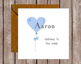 Personalised Balloon Baby Card
