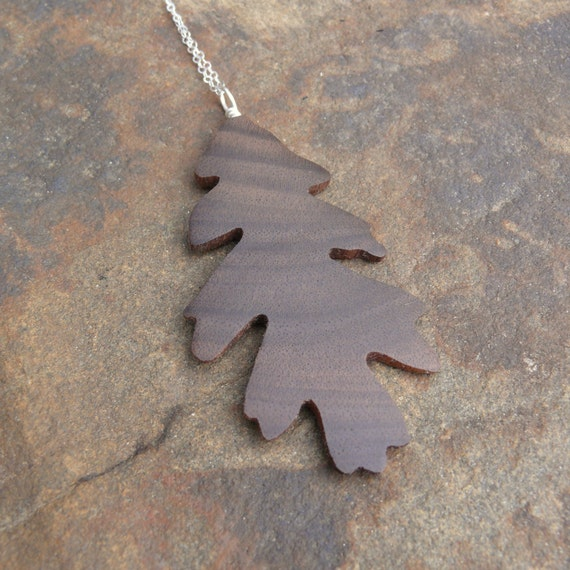 Oak Leaf Necklace Pendant, Oak leaf Silver Necklace, Oak leaf jewelry, Boho necklace, Nature lover gift, Gift for her under 20, Handcrafted