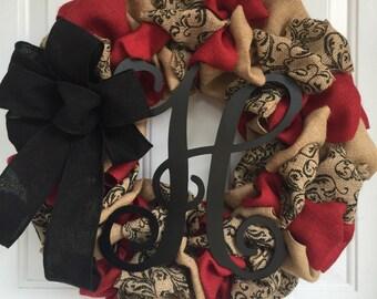 Christmas wreath, Burlap Wreath, Everyday wreath, burlap everyday wreath, winter wreath