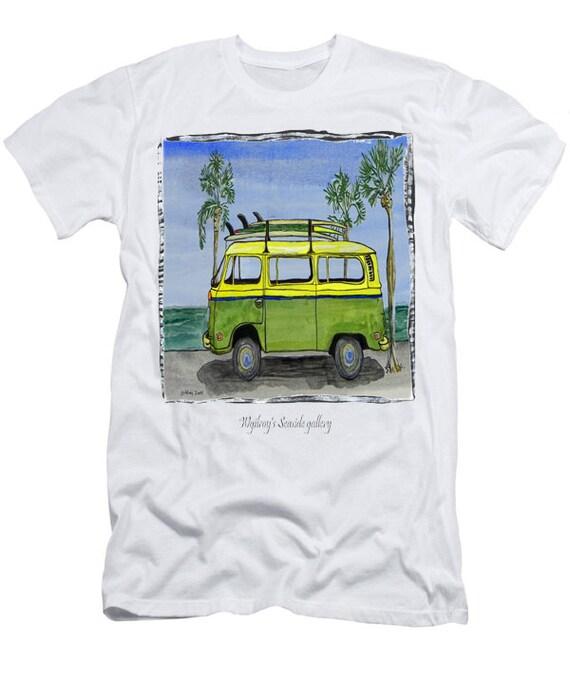 vw bus t shirt hippie peace bus t shirt comfort fit. Black Bedroom Furniture Sets. Home Design Ideas