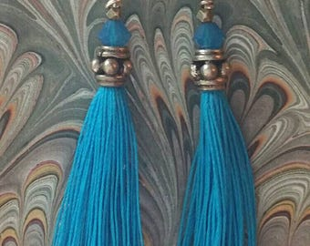 Sterling tassel earrings, one of a kind