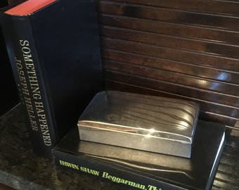 Vintage Pool Silverplate 2 section Box with Hinged Lid