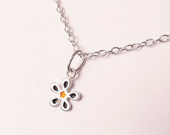 Forget-me-not Bracelet - Christmas gift - Sterling Silver Charms - Enamelled Flowers - Gifts for her - Minimal Jewellery - Gift for her